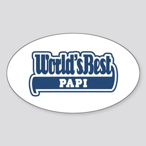 WB Dad [German] Oval Sticker